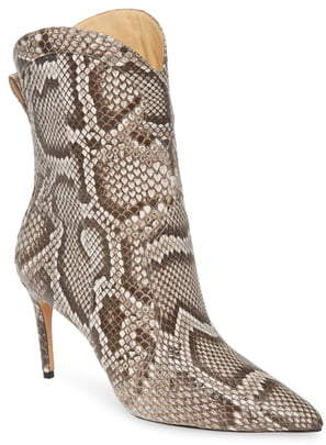 Alexandre Birman Esther Genuine Python Pointed Toe Boot