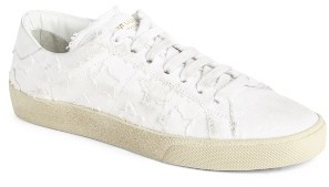 Women's Saint Laurent Classic Court Sneaker $595 thestylecure.com