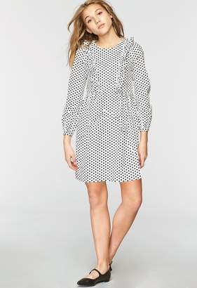 Milly Minis MillyMilly Dots Print Poplin Ruffle Sleeve Dress