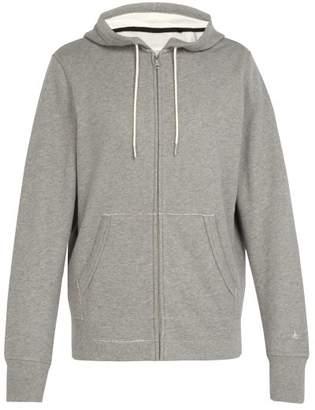 Rag & Bone Zip Through Cotton Hooded Sweatshirt - Mens - Grey