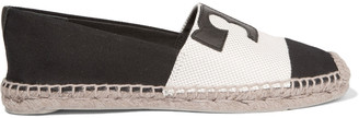 Tory Burch Veranda leather-appliquéd canvas espadrilles $150 thestylecure.com