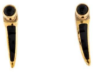 Pamela Love Onyx Horn Earrings