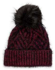 ... Echo Cable Knit Faux Fur Pom Beanie ebd3a2418309