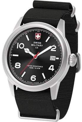 Swiss Military by Charmex By Charmex Men's Vintage Silver Tone Nato Band Watch