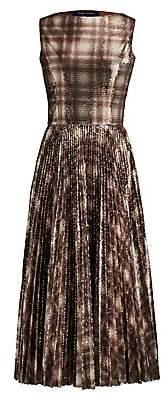 Ralph Lauren Women's Arwen Embellished Plaid Cocktail Dress