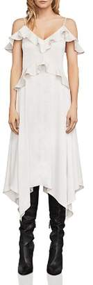 BCBGMAXAZRIA Lissa Cold-Shoulder Slip Dress