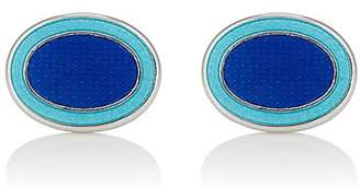 Barneys New York Men's Oval Cufflinks - Blue