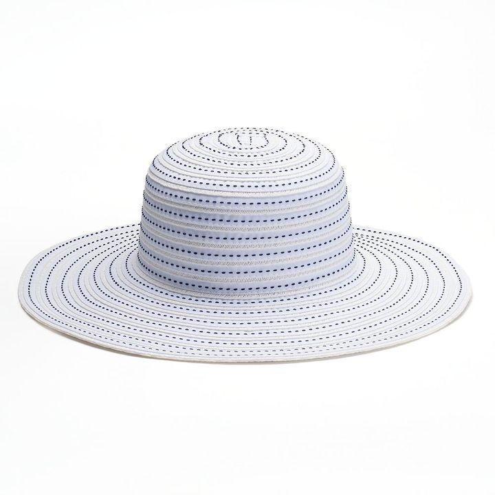 SONOMA Goods for LifeTM Striped Straw Floppy Hat