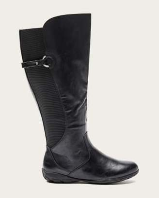 Penningtons Wide Calf Tall Boots with Textured Elastic Back