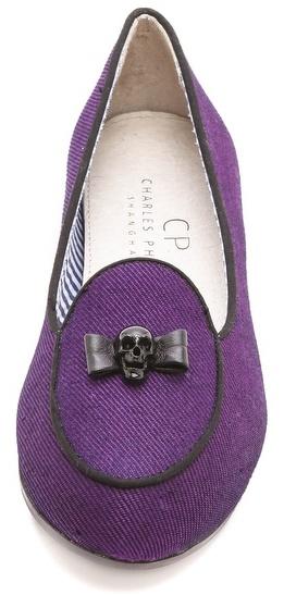 Charles Philip Olimpia Skull Bow Flats