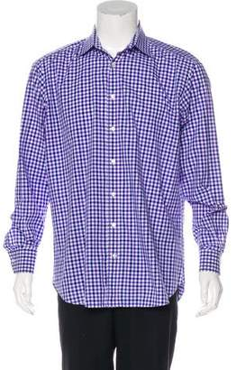 Etro Gingham Button-Up Shirt