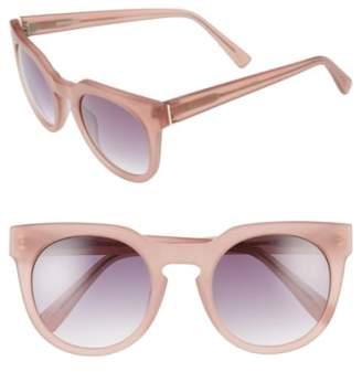 Derek Lam 'Stella' 51mm Round Sunglasses