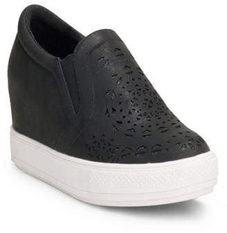 Wanted Hidden Wedge Sneaker With Laser Cut Upper Women Shoes