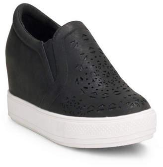 c5630dddd26c Wanted Hidden Wedge Sneaker With Laser Cut Upper Women Shoes