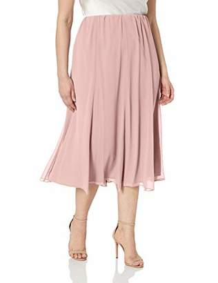 Alex Evenings Women's Plus Size Chiffon Skirt