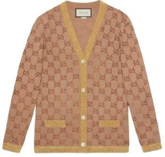 Gucci Cardigan with crystal GG motif