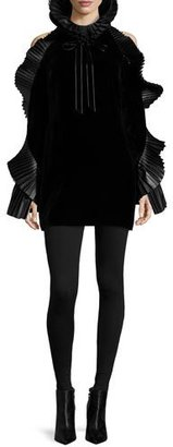 Ralph Lauren Collection Priscilla Ruffled Velvet Dress, Black $3,490 thestylecure.com