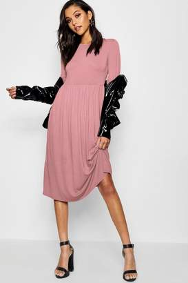 boohoo Long Sleeve Midi Dress
