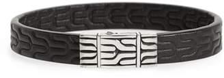 John Hardy Classic Chain Leather Bracelet