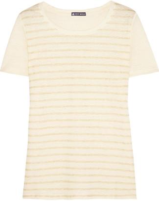 Petit Bateau Striped linen-jersey T-shirt $105 thestylecure.com