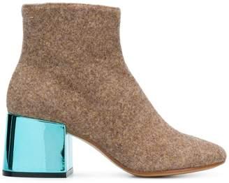 MM6 MAISON MARGIELA contrast-heel ankle boots