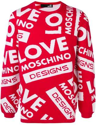 Love Moschino all over logo sweater