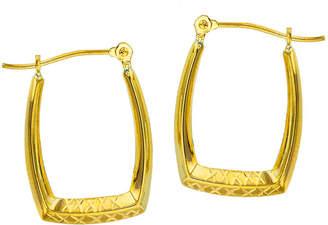FINE JEWELRY 14K Gold 20mm Rectangular Hoop Earrings