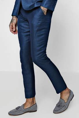boohoo Gingham Skinny Fit Suit Trouser