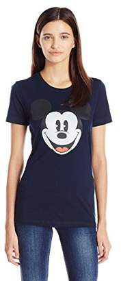 Disney Women's Happy Mick Face Graphic Tee $22.18 thestylecure.com