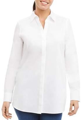 Foxcroft Vera Button-Down Tunic Top
