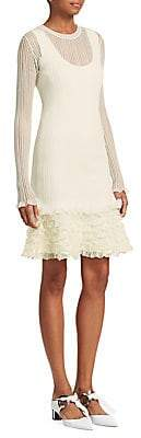Proenza Schouler Women's Sheer Ruffle Dress