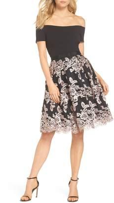 Eliza J Off the Shoulder Party Dress