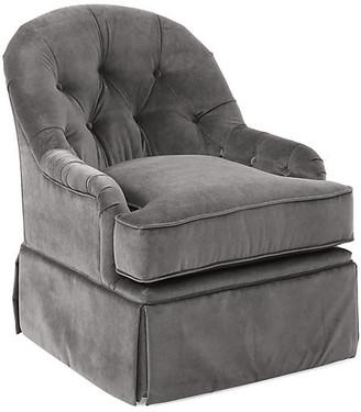 One Kings Lane Marlowe Swivel Glider Chair - Light Gray Velvet