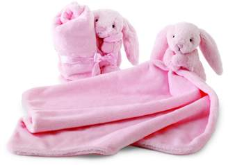 Jellycat Jelly Cat Bashful Pink Bunny Soother Blankie