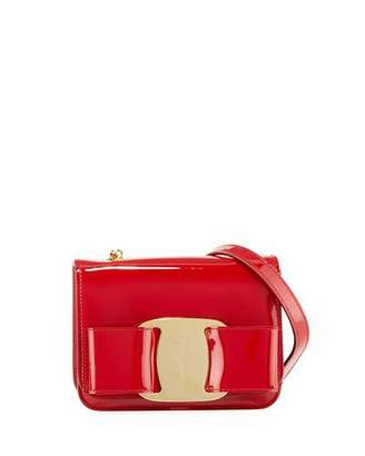 Salvatore Ferragamo Vara Rainbow Patent Shoulder Bag