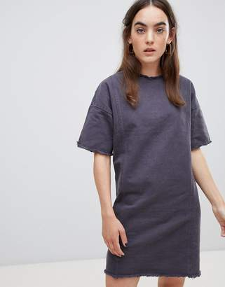 NATIVE YOUTH shift dress with raw hem detail