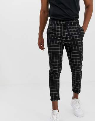 trousers in window pane check
