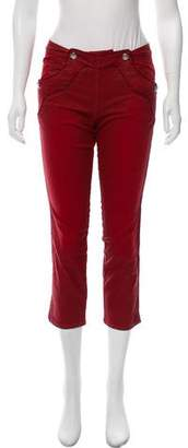 Isabel Marant Coated Mid-Rise Jeans