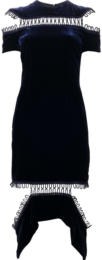 Christopher Kane loop panel dress