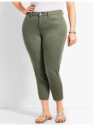 Talbots Womans Exclusive Colored Denim Crop Jegging - Curvy Fit