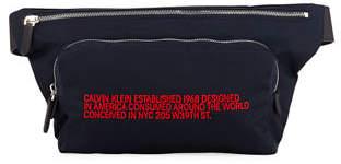 Calvin Klein Typographic Logo Nylon Fanny Pack