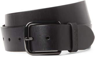 DKNY Black Genuine Leather Belt