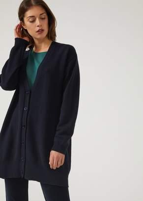 Emporio Armani Cashmere Blend Buttoned Cardigan