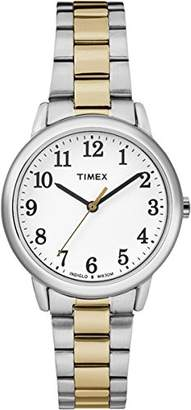 Timex Women's Easy Reader White Dial with a Two-tone Bracelet Watch TW2R23900