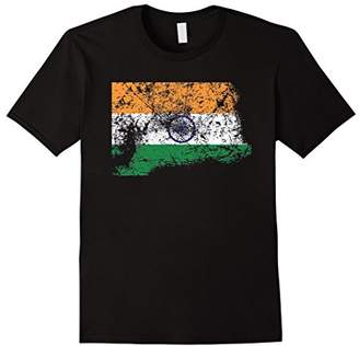Distressed Beat Up Indian Flag Vintage India T-Shirt