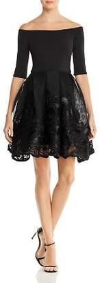 Aqua Three-Quarter Sleeve Party Dress - 100% Exclusive