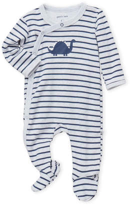Petit Lem Newborn/Infant Boys) Stripe Dinosaur Footie