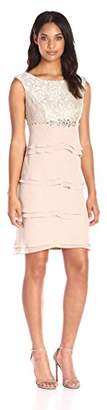 Jessica Howard Women's Beaded Dress with Artichoke Skirt $108 thestylecure.com