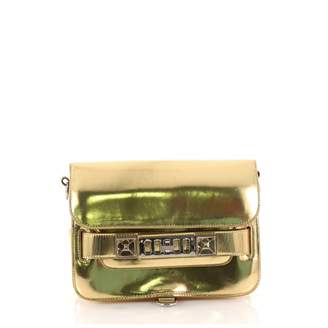 Proenza Schouler PS11 Gold Patent leather Handbag
