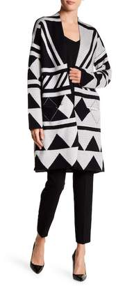 Vertigo Geometric Contrast Patterned Sweater